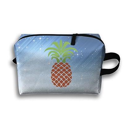 Cartoon Thailand Pineapple Zipper Travel Cases Resistance Carry Handle Pouch Bag