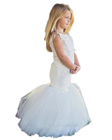 Amazon.com: AUTOMAN sirena vestidos de niña de flores las ...