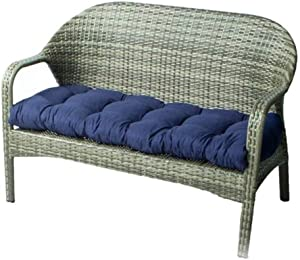 "Indoor/Outdoor Bench Cushion Cotton Garden Furniture Loveseat Cushion, 51.2""x19.7"" Patio Wicker Seat Cushions for Lounger Garden Furniture Patio Lounger Bench (Navy Blue)"