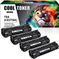 Cool Toner Compatible Toner Cartridge Replacement for HP 78A CE278A Toner HP Laserjet P1606dn 1606dn HP Laserjet M1536dnf 1536dnf MFP HP Laserjet P1566 P1560 Toner Cartridge Printer Ink (Black,4-Pack)