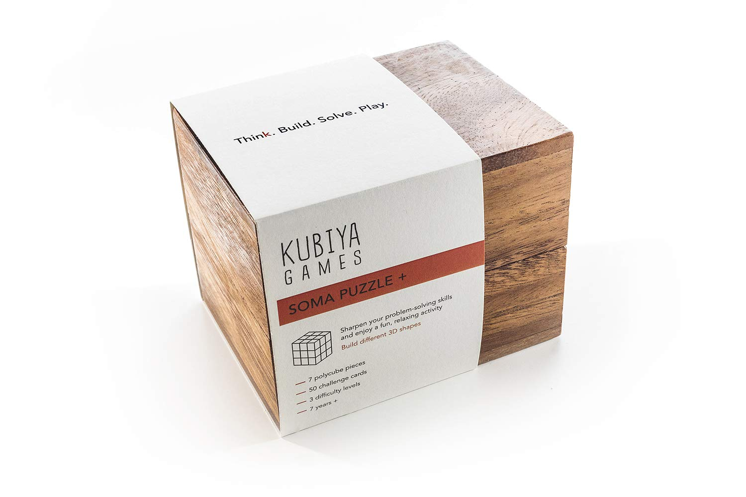 Kubiya Games | STEM Soma Cube Puzzle Set with 50 Challenge Cards. Spark All Kinds of Creativity with Our Amazing Geometric Shape Puzzle. Great Puzzle for Kids and Family. Educational and Fun Learning by Kubiya Games