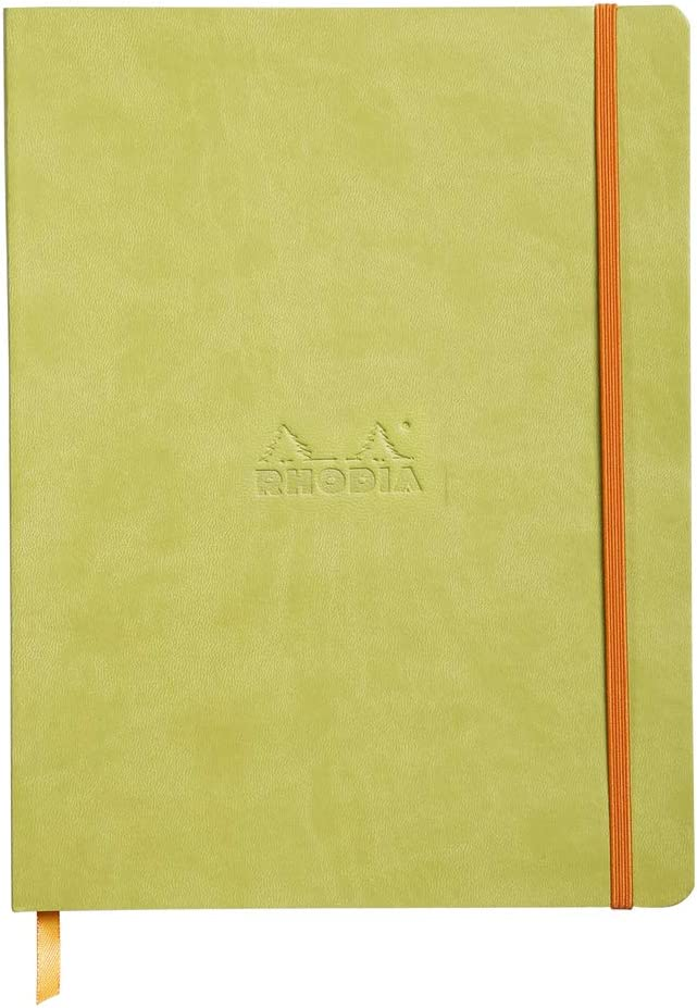 Black Cover Rhodia Rhodiarama SoftCover Notebook 9 3//4 x 7 1//2 80 Dots Sheets