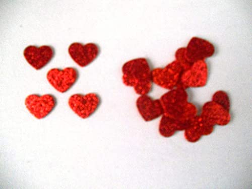 20 corazones de 2,5 cm x 2,5cm aprox. de color rojo brillante de goma eva, Silvys