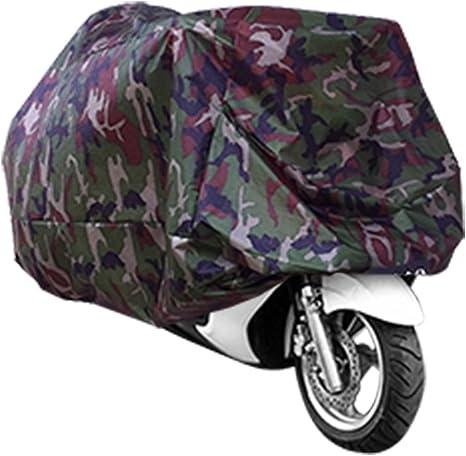 ANFTOP imperm/éable /à leau Housse de Moto Camouflage Couleur UV Protection Anti-poussi/ère Scooter Respirant Housse de Moto Sac Transport Couverture ext/érieure Motorcycle Cover Taille L