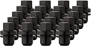DPAccessories LCM4D8HEOBK06020 20 Black Wheel Lug Nuts for 2006+ Land Rovers - Replaces RRD500590 RRD500510 Wheel Lug Nut
