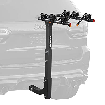 """IKURAM 3 Bike Rack Bicycle Carrier Racks Hitch Mount Double Foldable Rack for Cars, Trucks, SUV's and minivans with a 2"""" Hitch Receiver : Sports & Outdoors"""