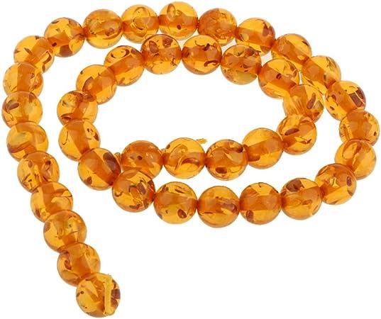 Perle ronde en pierres précieuses en ambre de la mer Baltique de 10 mm