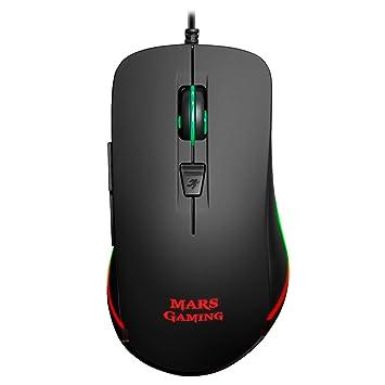 Mars Gaming MM118 - Ratón Gaming de 9800 dpi (iluminación LED RGB, 6 Botones mecánicos, Windows/Mac/Linux), Color Negro: Amazon.es: Informática