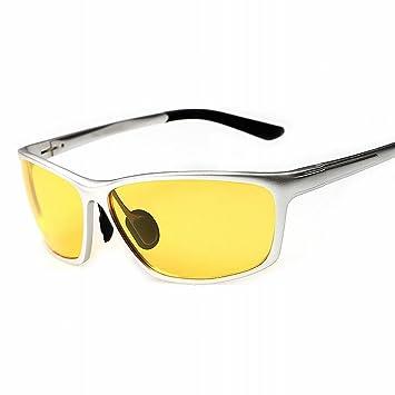 gafas de Sol de alto grado de aluminio Y magnesio polarizadas gafas de Visión nocturna gafas marco blanco: Amazon.es: Deportes y aire libre