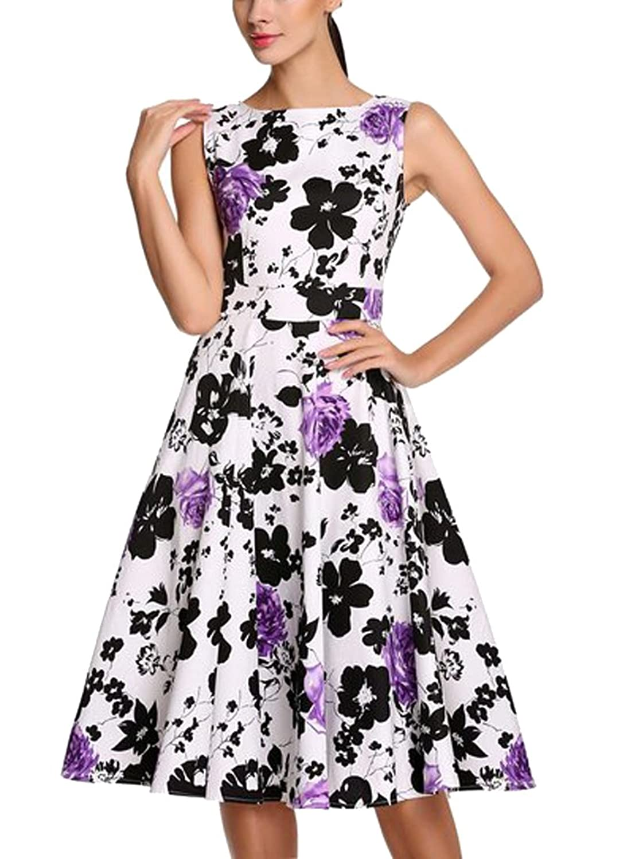 REPHYLLIS Damen 50s vintage Rockabilly petticoat Hepburn Schwingen ...