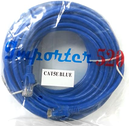 Router Blue Case Safety 1x 50ft Cat5 Patch Cord Ethernet Internet Network LAN RJ45 Cable Modem