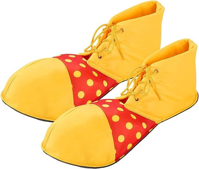 Scarpa da Clown copre Adulti Costume Accessorio Circus Unisex Fun Boot
