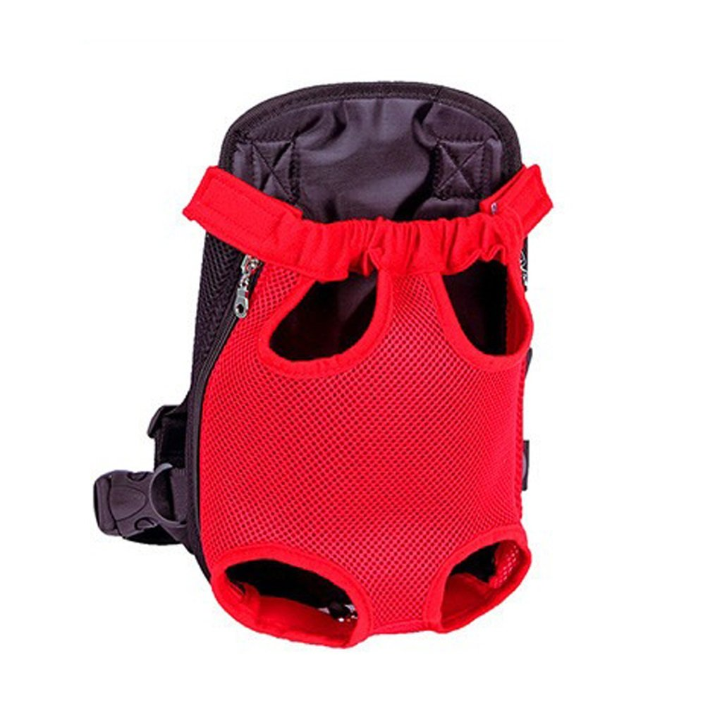 RED Xl RED Xl Portable Pet Backpack Legs Out Front-Facing Dog Carrier Backpack Adjustable Pet Backpack Portable for Walking Hiking Bike and Motorcycle Black Mesh (color   RED, Size   XL)