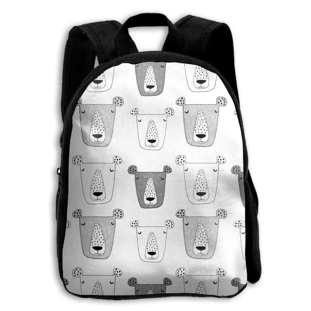 fidaljf Grizzly印刷子供の3dプリントファスナー付き旅行バッグ学校バックパック   B07DN8B4PX
