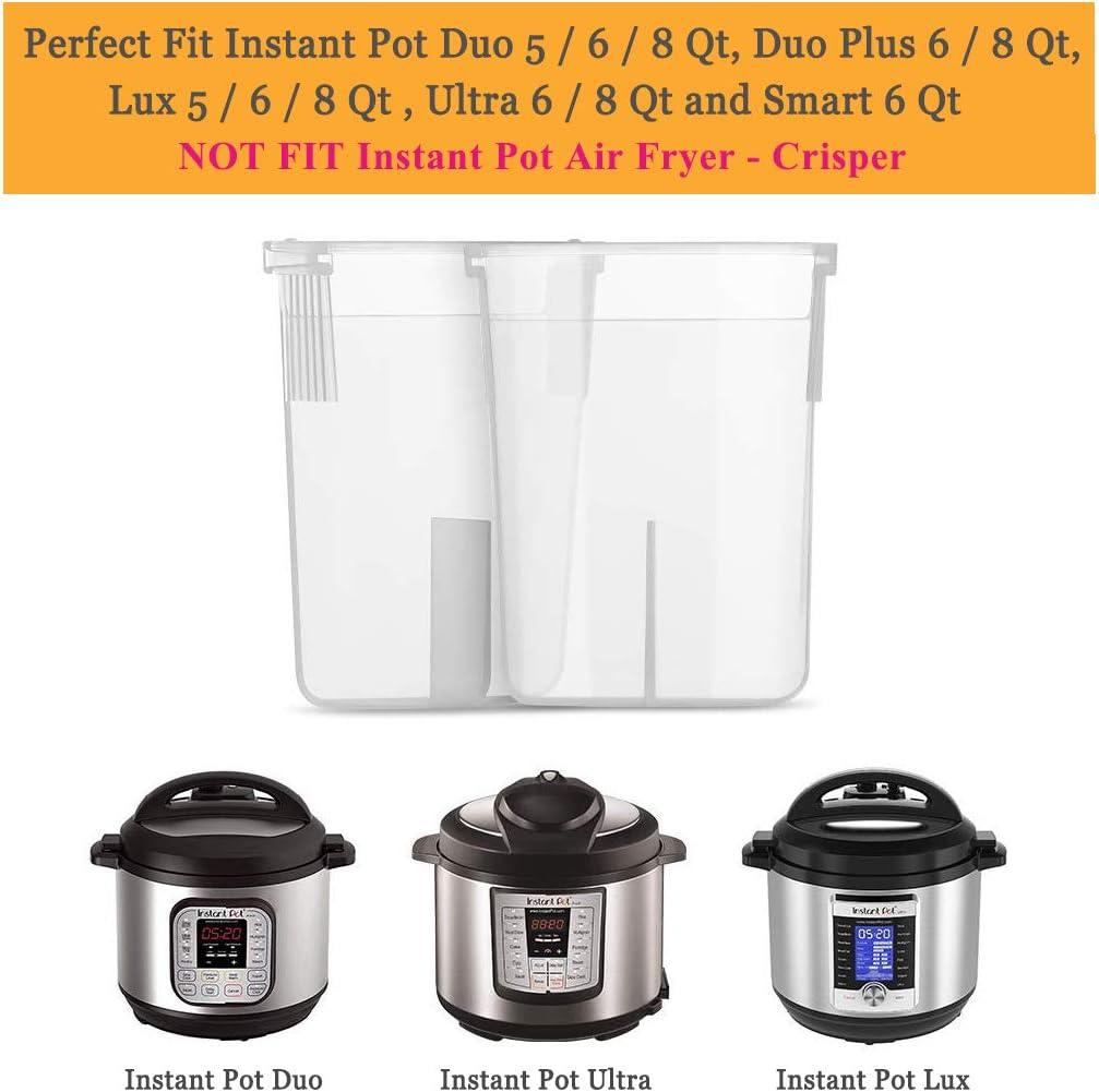 compatible avec Instant Pot 8Qt Duo 8 litres Duo 8 litres silicone de qualit/é alimentaire sans BPA Lot de 3 joints d/étanch/éit/é en silicone pour autocuiseur /électrique Instant Pot 8Qt
