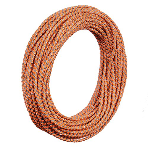 Orange Screw Posi-Lock Reflective Cord/Orange&Gray/3mm X 50ft/Made in USA by Orange Screw