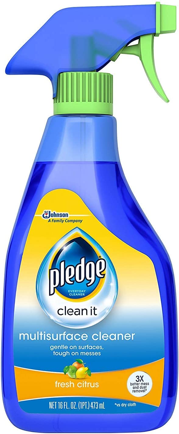 Pledge Multi Surface Everyday Cleaner 99% Natural Trigger 16 oz. (Pack of 2), Blue
