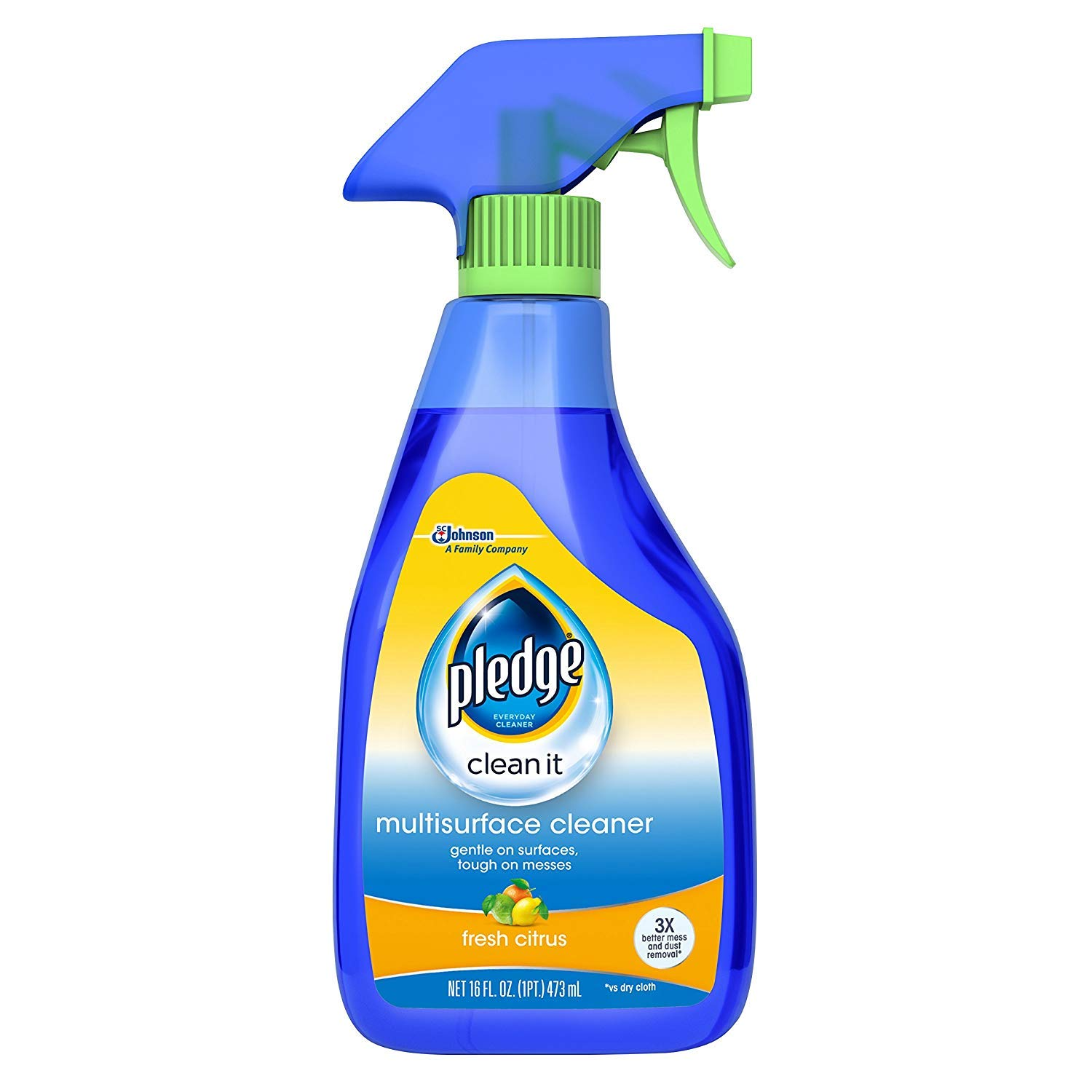 Pledge Multi Surface Everyday Cleaner 99% Natural Trigger 16 Ounces. (Pack of 2)
