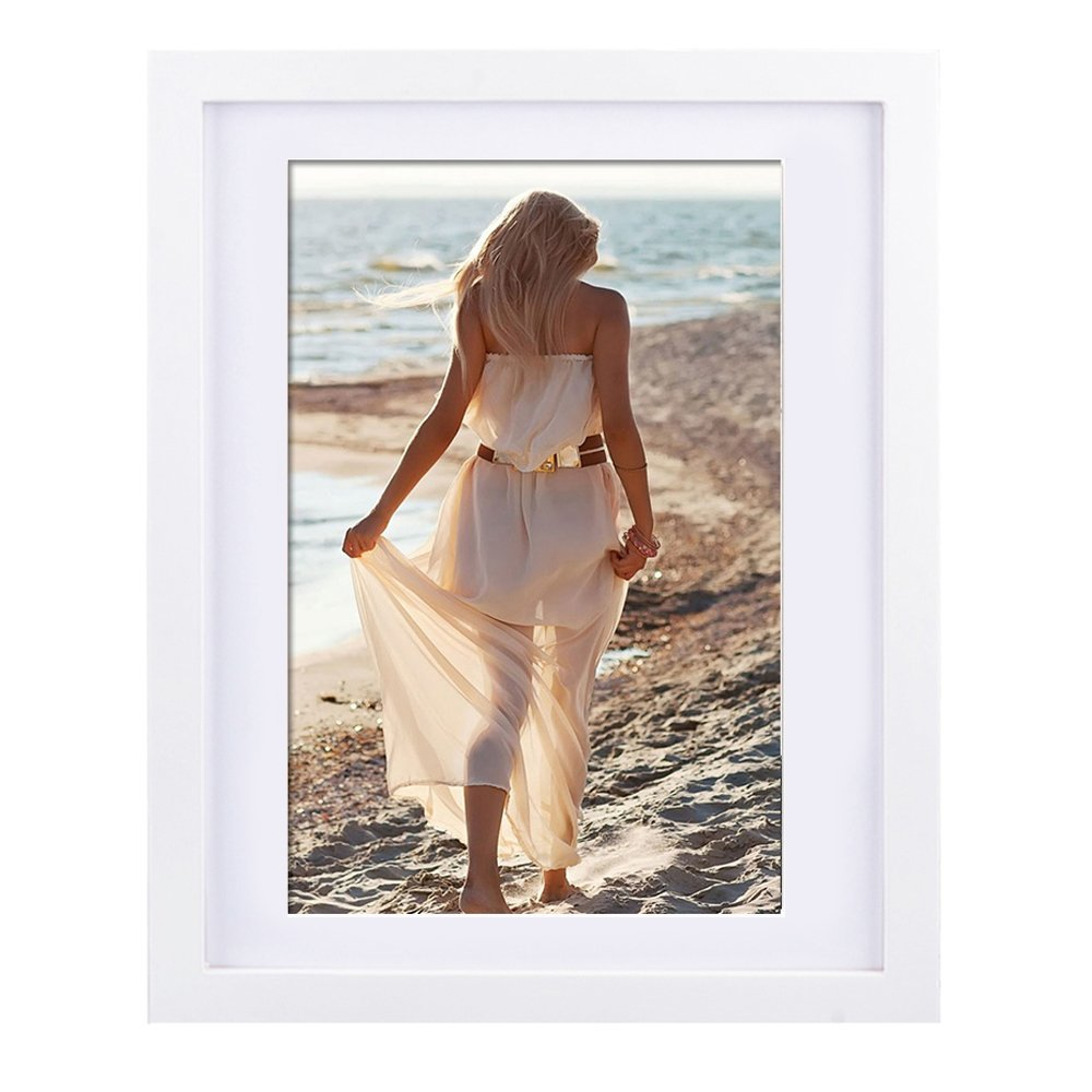 Picture Frame 11x14, Alotpower Wall Hanging Picture Frame Made to Display 8x10 with Mat