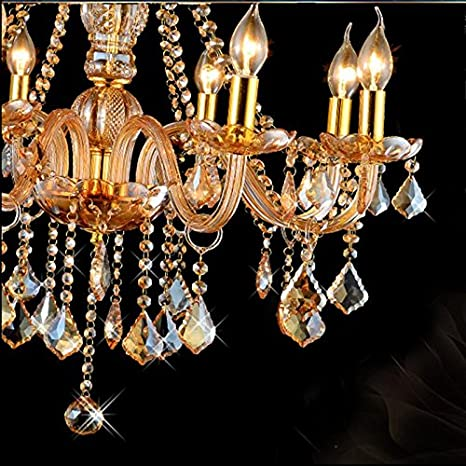 Rs Candelabros cristal ámbar Color lujo vida moderna , 12 ...