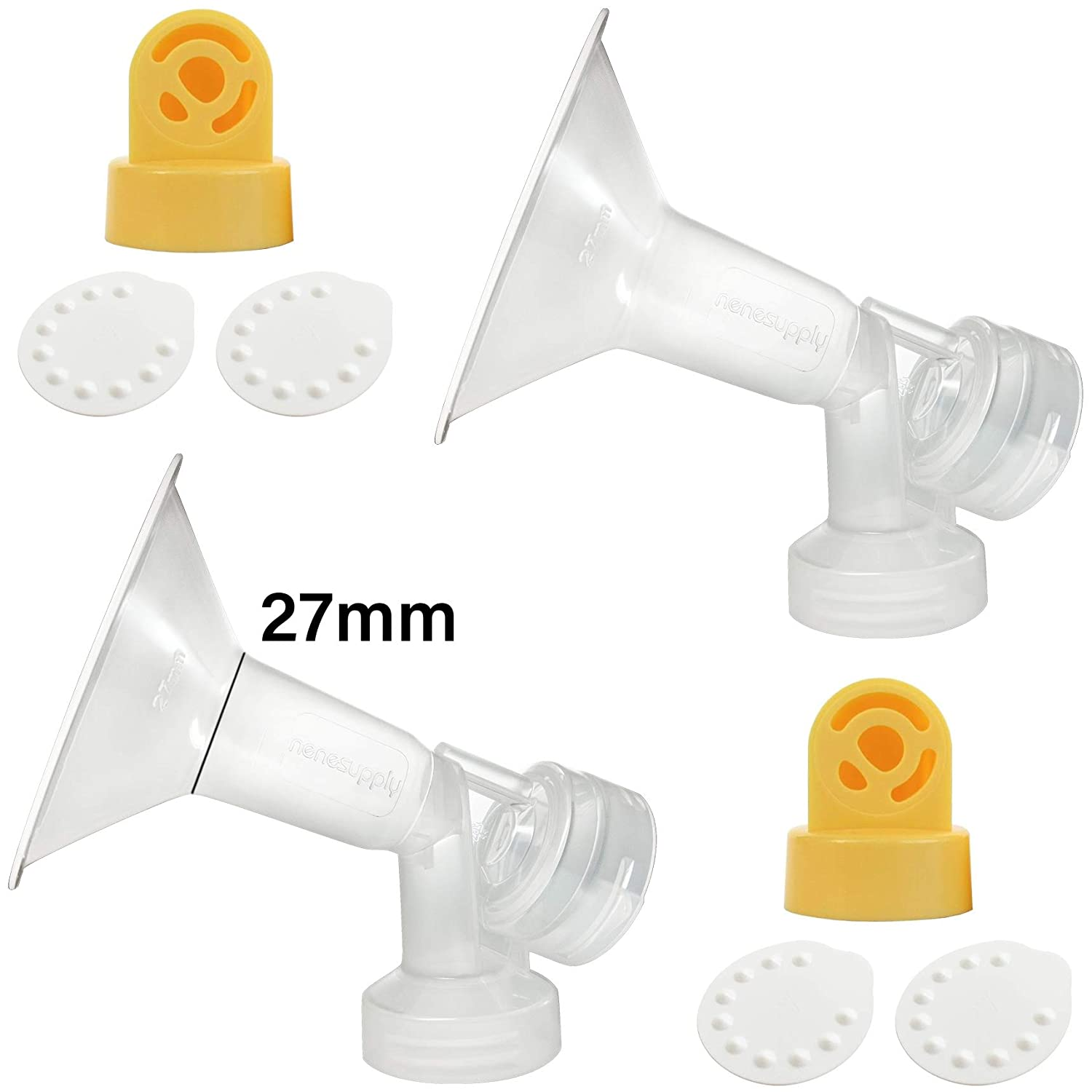 Nenesupply Pump Parts for Medela Breastpumps XX Small 19mm Breastshield Valve Membrane Use on Medela Pump In Style Symphony Medela Swing Not Original Medela Pump Parts Not Original Medela Breastshield