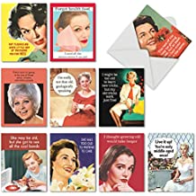 AGELESS WISDOM: Assorted Pack Of 10 Mini Notes Cards, W/10 Envelopes (10 Designs, 1 Card Per Design): 10 Assorted Blank All Occasions Note Cards, with Envelopes. M6620OCB