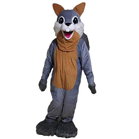 Gris ardilla mascota disfraz Real imagen: Amazon.es: Deportes y ...