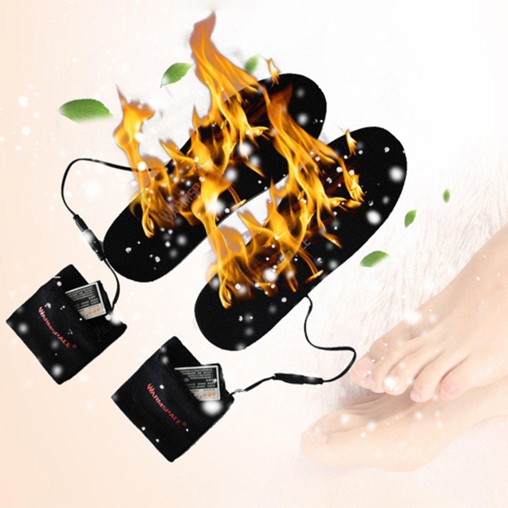 Calefacción plantillas Unisex USB calentador Batería Climatizada calentador USB de pie zapatos plantillas 16bf05