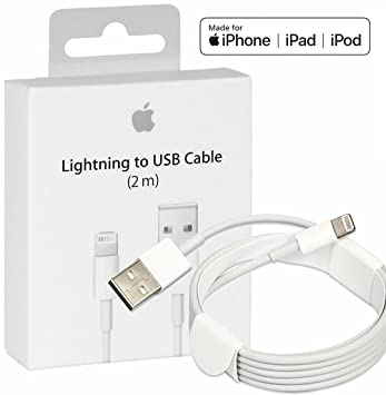 pretty nice 14770 8ff71 MD819ZM/A Genuine Original Apple Lightning USB Cable Charger Express  Collections for OEM Apple iPhone X/8/7/6/6S Plus/5C (2m)