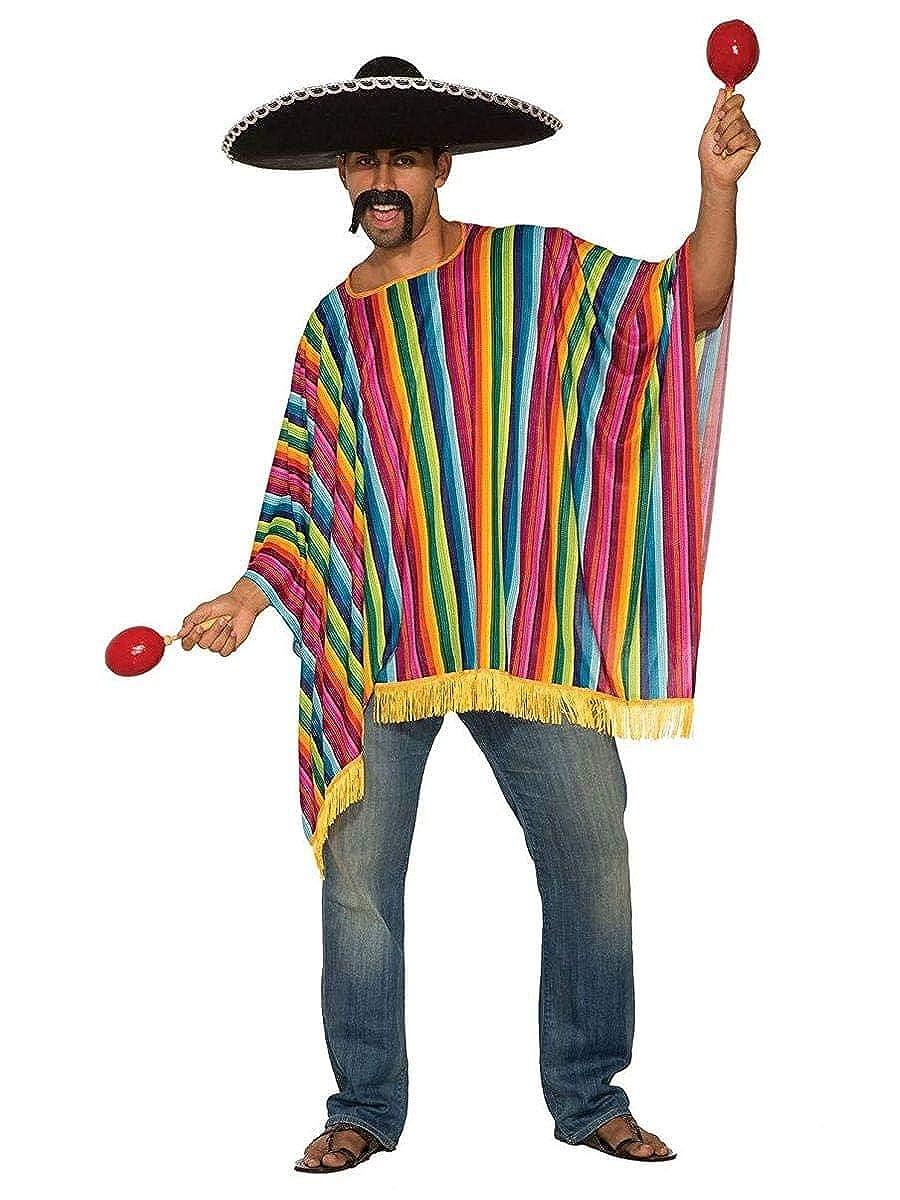 Mens Poncho Costume Multi Standard Forum Novelties 80572