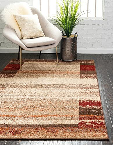 Unique Loom Autumn Collection Rustic Border Casual Warm Toned Beige Area Rug 9 0 x 12 0