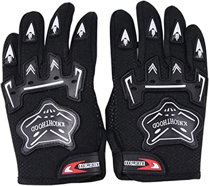 Kids Youth Motorcycle Full Finger Protective Gloves ATV Cycling Outdoor Sports