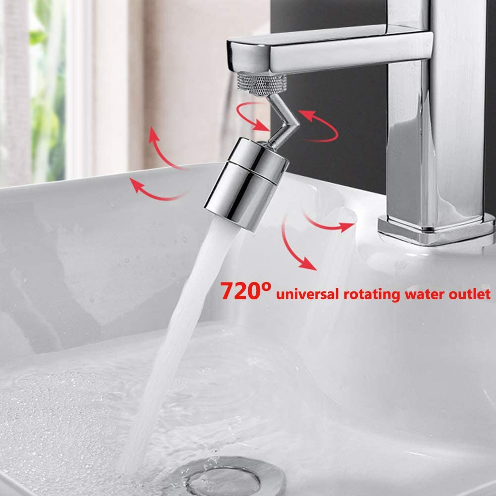 Faucet Aerator Sink Sprayer Attachment Eye Wash Station Faucet Aerator 720/º Big Angle Swivel Faucet Mounted Kitchen Faucet Head Replacement Rotatable Bubbler