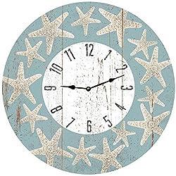 Lionkin8 Starfish Beach Themed Clock- Starfish Wall Clock