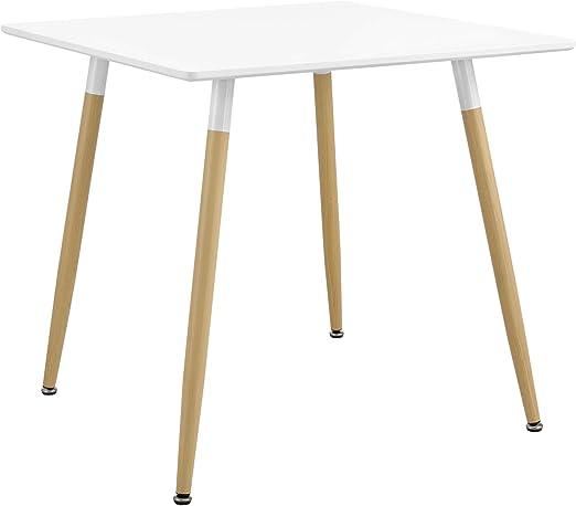 en.casa] Mesa de Comedor Elegante 80 x 80 x 74cm para 3 Personas ...