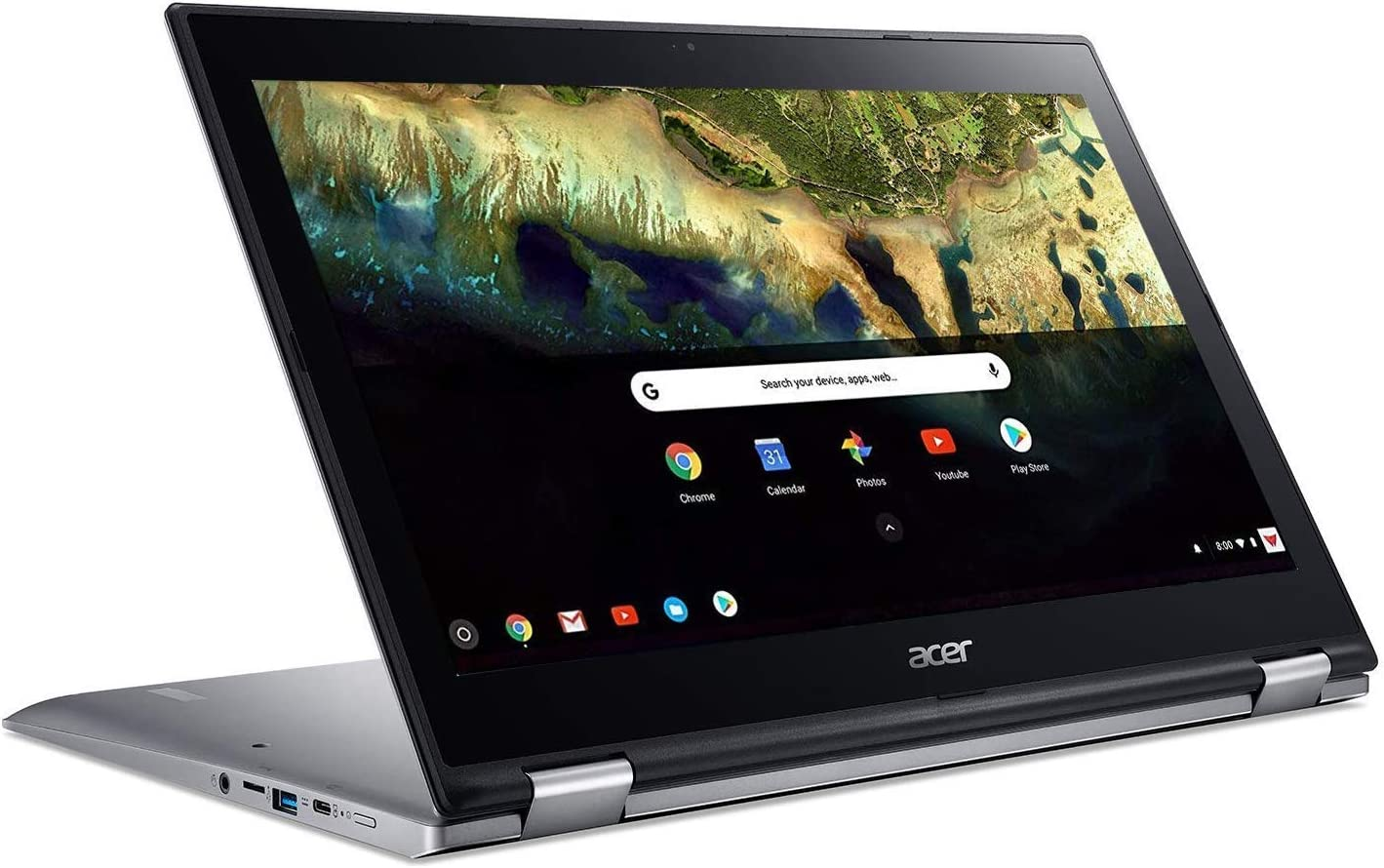 "Newest Acer 15.6"" IPS FHD Touchscreen Convertible Chromebook, Intel Pentium Quad-Core Up to 2.5GHz Processor, 4GB LPDDR4 RAM, 32GB SSD, Backlight Keyboard, Chrome OS(Renewed)"
