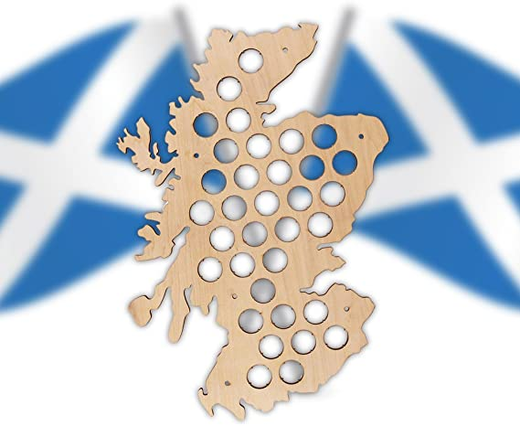 Perfect for Christmas! Beer Cap Map of Scotland