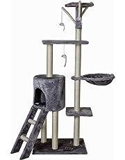 Gatto che si gratta e in pelo, Segnaposto, 50 x 35 x 138 cm, colore: grigio