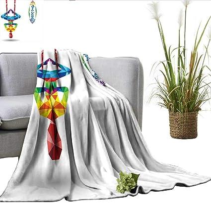 Amazon.com: ScottDecor Yoga Digital Printing Blanket Aerial ...