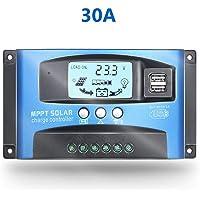 30A MPPT Controlador de carga solar con pantalla LCD, modos de control de carga múltiple (30A)