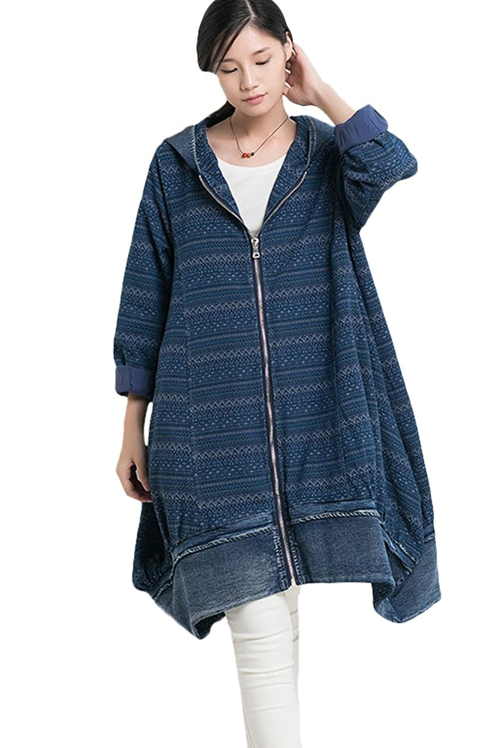 Minibee Women's Fashion Outwear Coat with Big Pockets Fit US M-XL