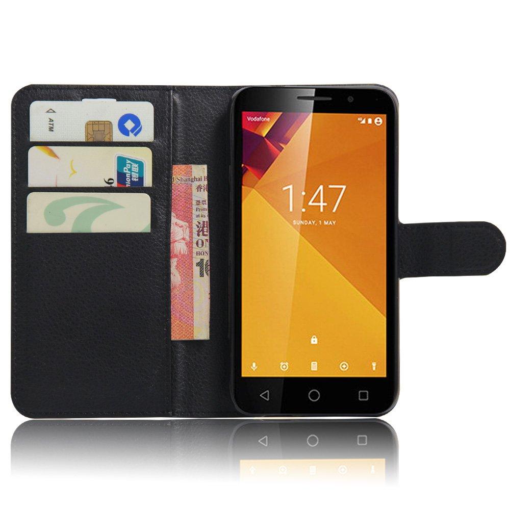 Nadakin Vodafone Smart Turbo 7 VFD500 Calidad Premium Cartera de Cuero con Carcasa de Teléfono Flip Funda con Soporte Magnetico de Cierre para Vodafone ...