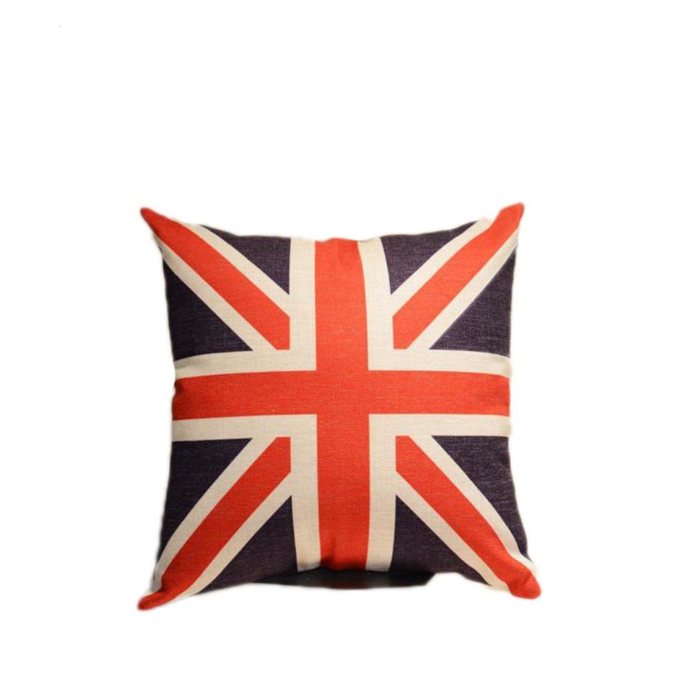 Amazon.com: Only Faith Linen Throw Pillow Flag Eiffel Tower ...