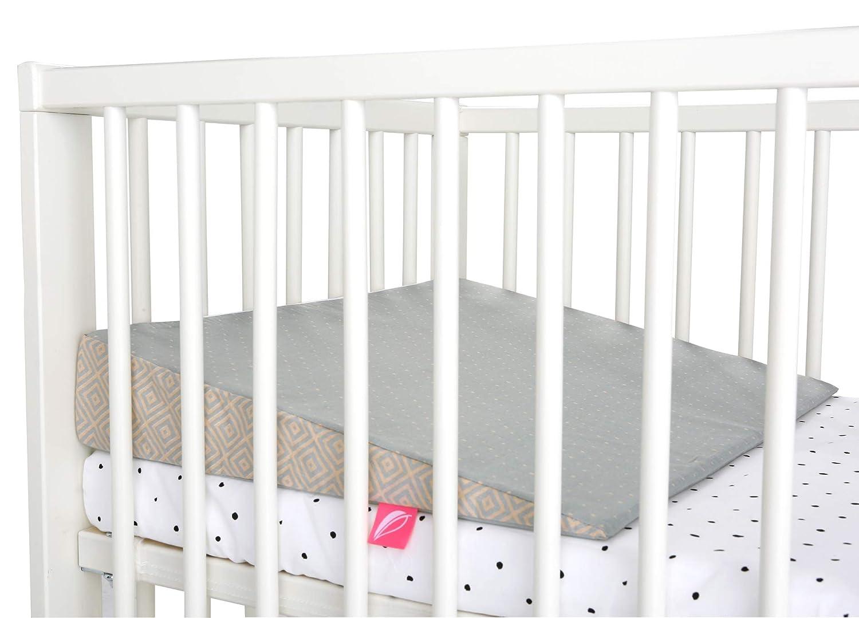 Gr abnehmbarem Bezug aus 100/% Baumwolle Baby Keilkissen ideal f/ür Kinderwagen /Öko-Tex Standard 100 30x30cm inkl Quadrate apricot