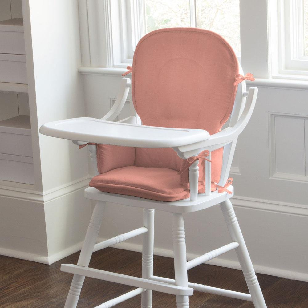 Carousel Designs Solid Light Coral High Chair Pad