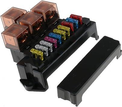 MagiDeal 10x Fusibles Caja de Soporte 4 Relés Protección de Sobrecarga Universal para Automoción: Amazon.es: Electrónica