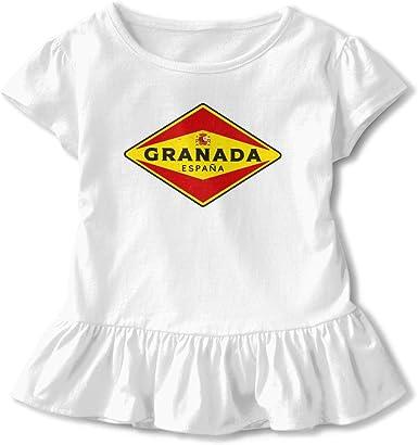 Top Wholesale Granada España - Camiseta de Manga Corta para niños con una Mezcla de Volantes: Amazon.es: Ropa y accesorios
