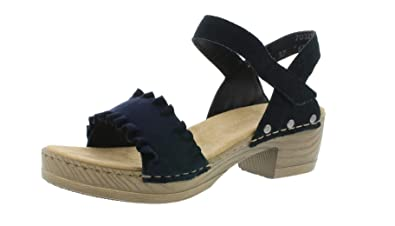 Damen Riemchensandale sandalette absatz Rieker V6881 sommerschuh jARc54L3q