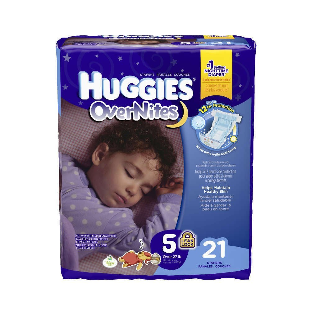Huggies Overnites Diapers Featuring Sleepy Winne Pooh, Unisex Size 5, 40684 (Case of 84)