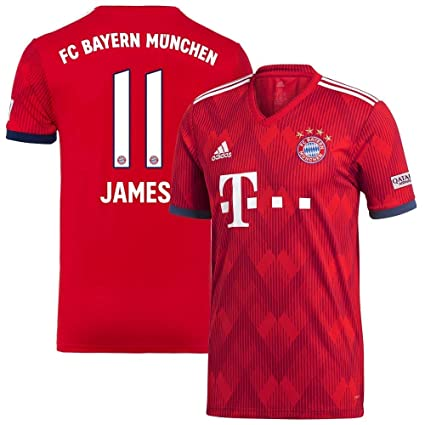 purchase cheap 99cae 20aaa Amazon.com : ProApparels James Jersey Bayern Munich 2018 ...